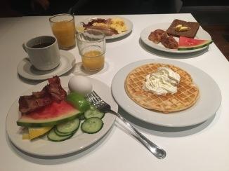 Complimentary breakfast at Hotel Arnarholl