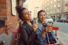 First meal in Stockholm with my friend Essie